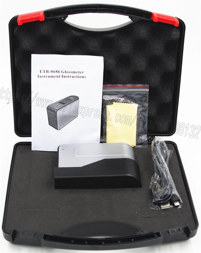 Glossmeter ETB 0686 0 200Gu Gloss Tester For Paint Granite Woodware Surface Test Gloss Meter