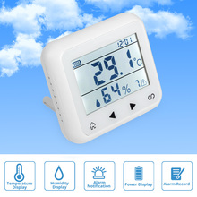 FUERS TD32 LED Display Adjustable Temperature And Humidity Alarm Sensor Detector Alarm Protect the personal property Home Safety