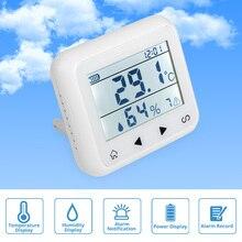 Светодиодный дисплей FUERS TD32, регулируемый датчик температуры и влажности, детектор сигнализации, защита личных вещей, Домашняя безопасность