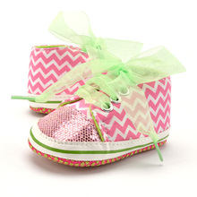 Cotton Fabric Infant Toddler Girl Boy Shoes Baby Sneakers So