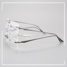Vazrobe Prescription Glasses Men Gold Rimless Man Frameless