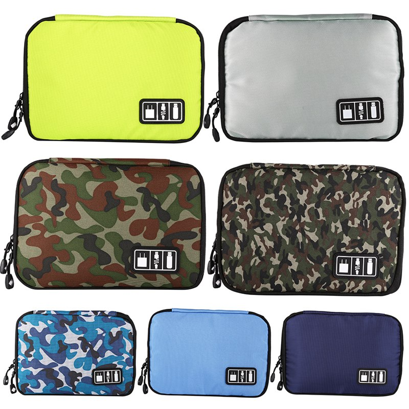 Electronic Accessories Storage Bag Multi-Function Waterproof Portable Storage Data Cable Hard Disk Headset Cable USB Flash Drive