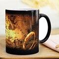 Оптовая продажа  креативные подарки  волшебные кружки  чашка для горячих напитков  Термочувствительная Цветовая меняющаяся карта  кофейные...
