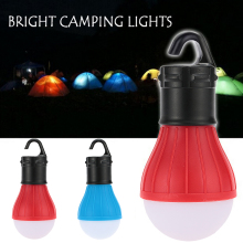 цена на Portable Lantern Tent Mini Light LED Bulb Outdoor Emergency Lamp Waterproof Hanging Hook Flashlight For Camping
