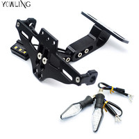 Motorcycle License Plate Bracket Licence Plate Holder Number Plate Hanger Tail Tidy Bracket With Light Steering