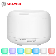 500ML Aromatherapy Essential Oil Diffuser Ultrasonic Air Humidifier with 4 Timer Settings 7 LED Color Changing Lamps, 10 Hours