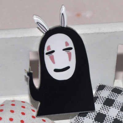 1 шт. каваи Харадзюку Япония стиль без лица человек акриловая брошь аниме матерчатая нашивка декоративная Rozet воротник шарф нагрудные булавки брошь