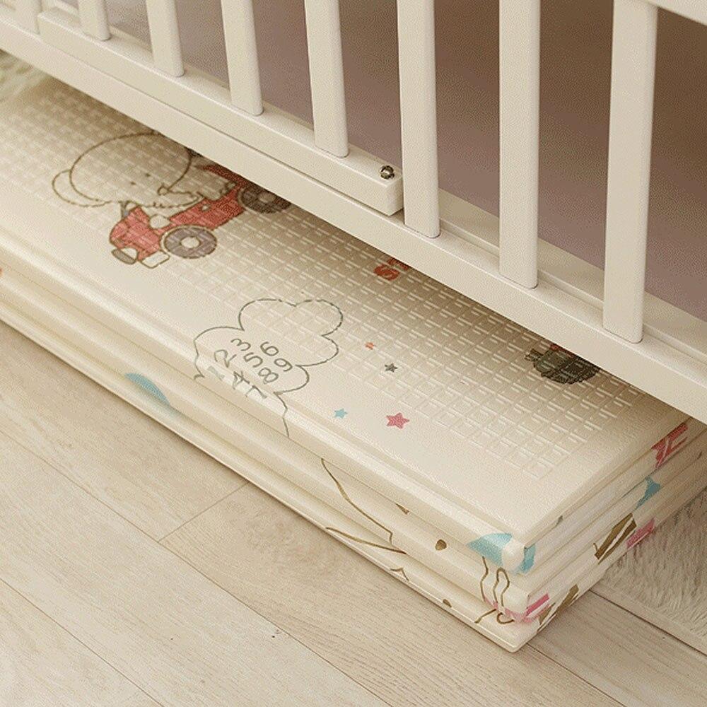 Tapis de jeu bébé pliant XPE ramper Pad 200 CM * 180 CM * 1 CM maison Portable extérieur pliant imperméable Puzzle tapis de jeu Carprt - 4