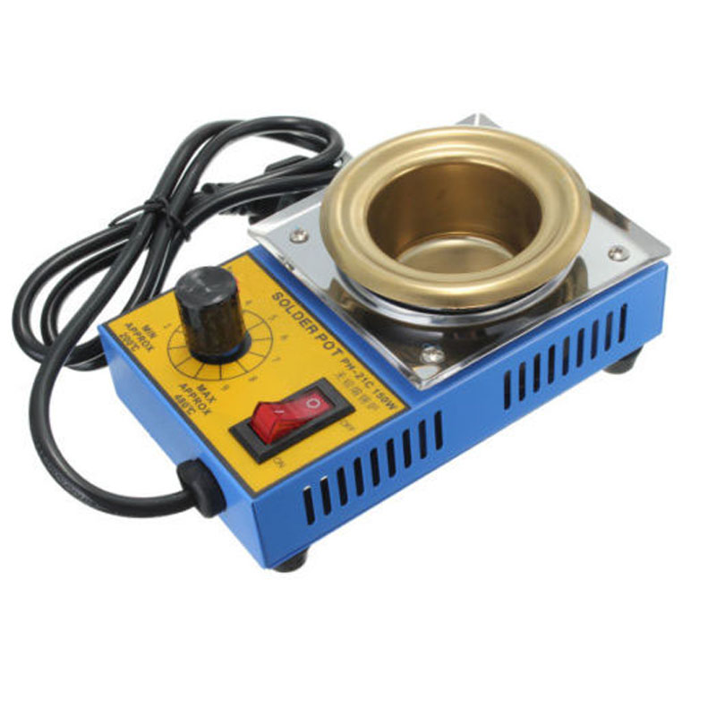 Temperature Controlled  Solder Pot Soldering Desoldering Bath Tin Melting Plate Tin Cans 50mm 220V 150WElectric Soldering Irons   - AliExpress