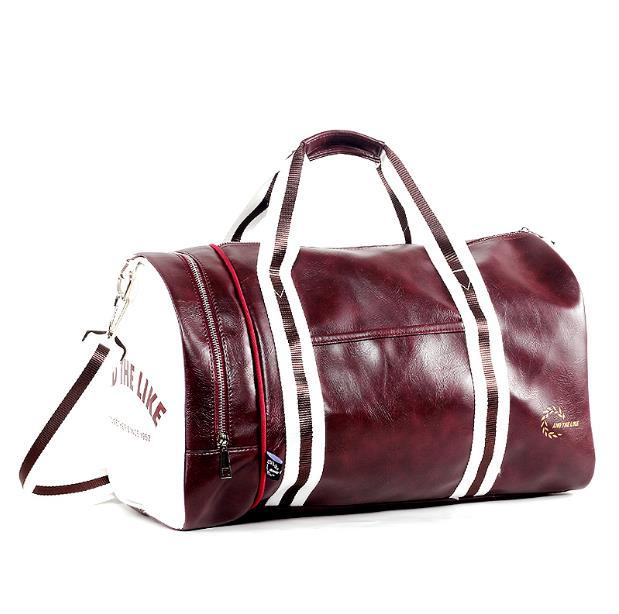 New Fashion Multifunction Mens PVC Travel Bags Brand Cylindrical Handbag Men Crossbody Bags High Quality Shoulder Bags
