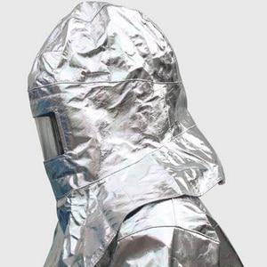 Image 2 - High Quality Heat Resistant Helmet Headgear 1000Degree Thermal Radiation Aluminum Foil Aluminized Hat Fireproof High Temperature