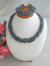 Darmowa dostawa! Naturalna perła słodkowodna naszyjnik zestaw kolczyków moda zestaw biżuterii i zestaw dla nowożeńców oryginalne z pereł słodkowodnych Z-3751 tanie tanio Zestawy biżuterii necklace bracelet Kobiety TRENDY CORAL Ślub Miedzi PLANT Naszyjnik bransoletka jewelry set NoEnName_Null
