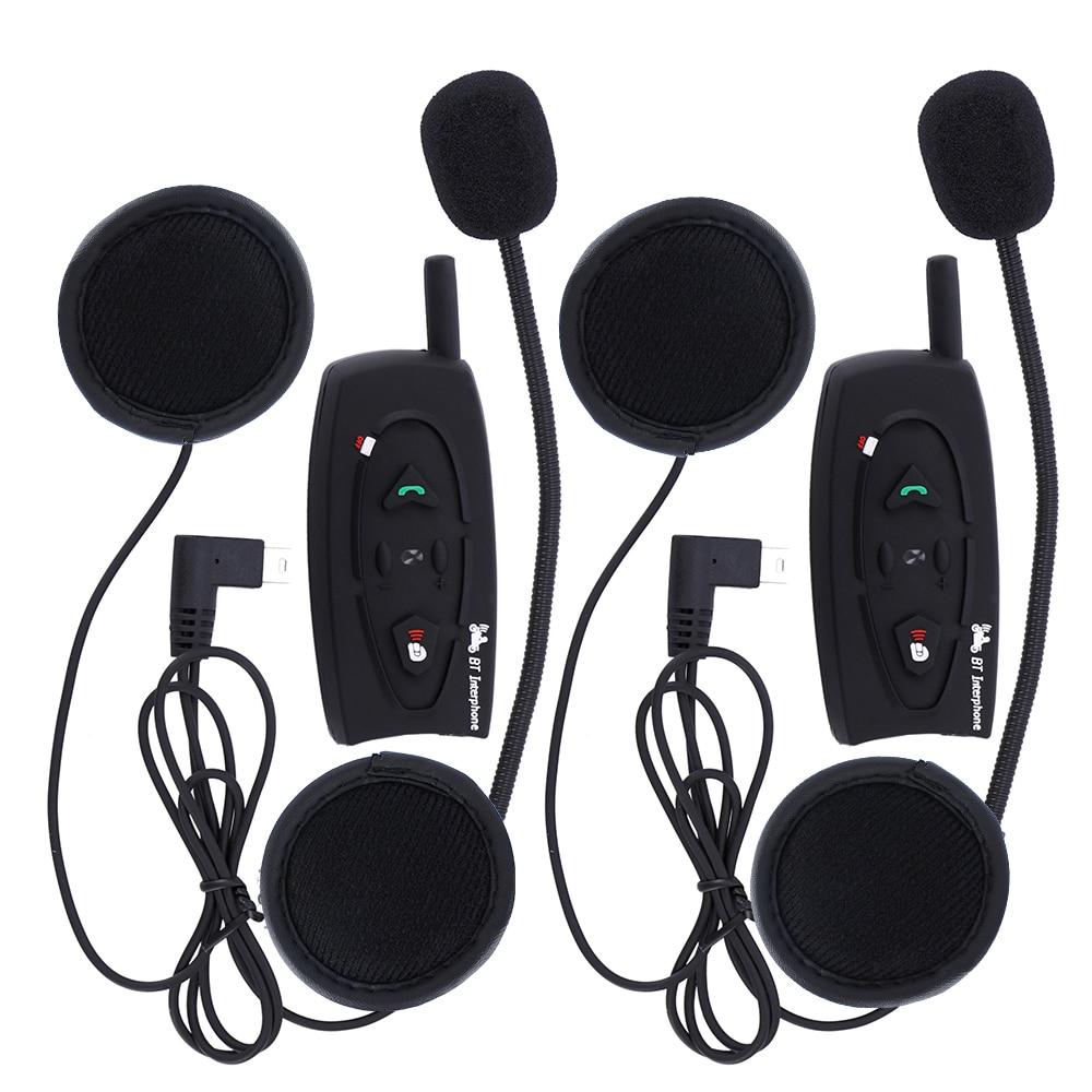 2 шт. <font><b>V2</b></font> 500 м BT <font><b>Bluetooth</b></font> переговорные мотоциклетный шлем гарнитура intercomunicador музыке стерео