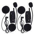 2 pcs V2 500M BT Bluetooth Interphone Motorcycle Helmet Intercom Headset Intercomunicador Stereo music