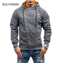 2019 Autumn Winter New Men's Hooded Hoodie Fashion Wild Hoodies Zipper Solid Sweatshirts Coat Large Size M-4XL