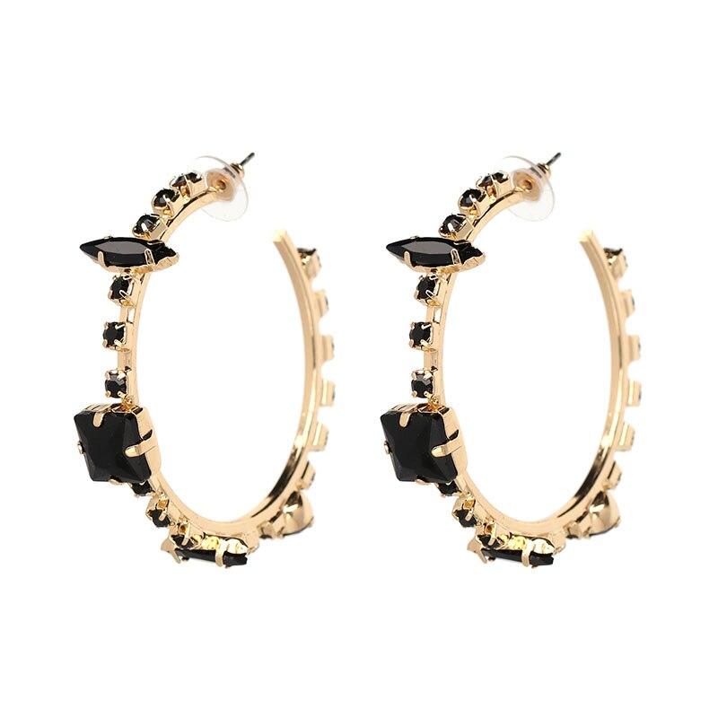6d113567be US $3.38 |JURAN 2018 4 Color Rhinestone earrings fashion earrings brand  Crystal round HOOP earring women Christmas girls orecchini-in Hoop Earrings  ...