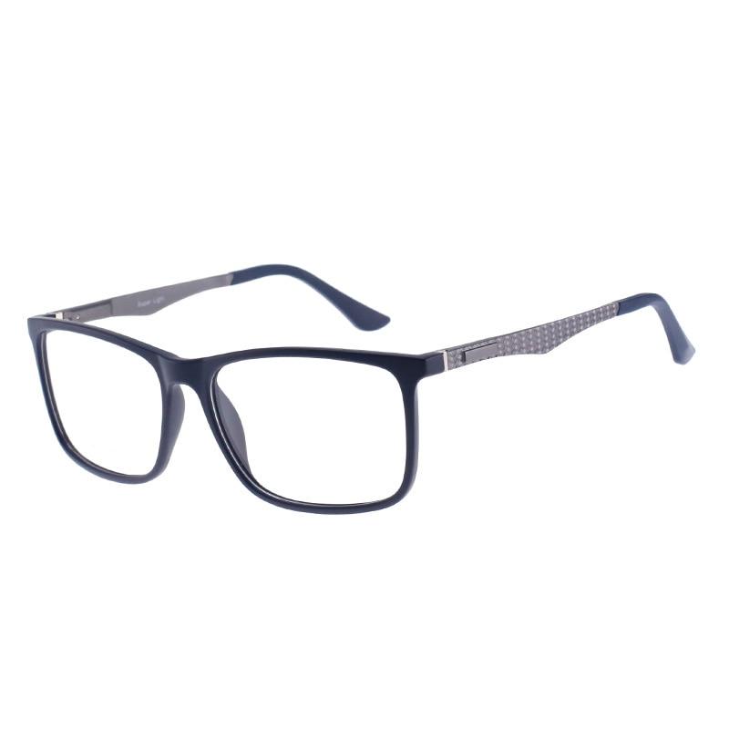 Óculos de prescrição tr90 men retro leitura colorida computador visão clara óptica transparente miopia
