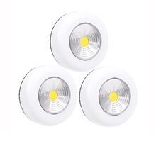1/2/5Pcs 3W Cordless COB LED Under Cabinet Lights AAA Battery Powered Touch Control Easy Install Living Room Kitchen Wall Lamp(China)