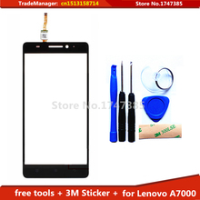 Tools+ 3M Sticker Original Touch Screen For Lenovo K3 Note K50-t5 Glass sensor touch screen digitizer Black Free shipping !!!