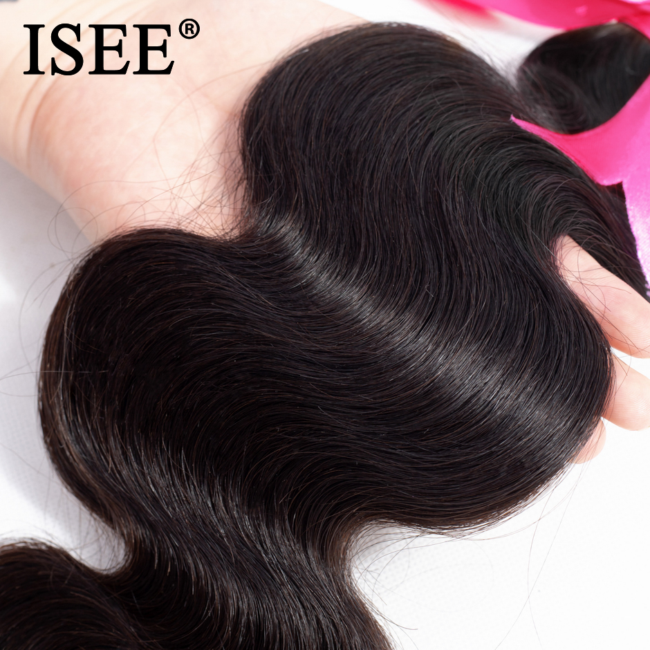 ISEE HAIR Malaysian Body Wave Hair Bundles 100% Remy 3 Bundles Hair Extension Free Shipping Human Hair Bundles Nature Color