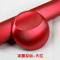 152CM Good Quality Red Metallic Brushed Aluminum Vinyl Metal Vinyl Car Wrap Film Sticker Styling Auto