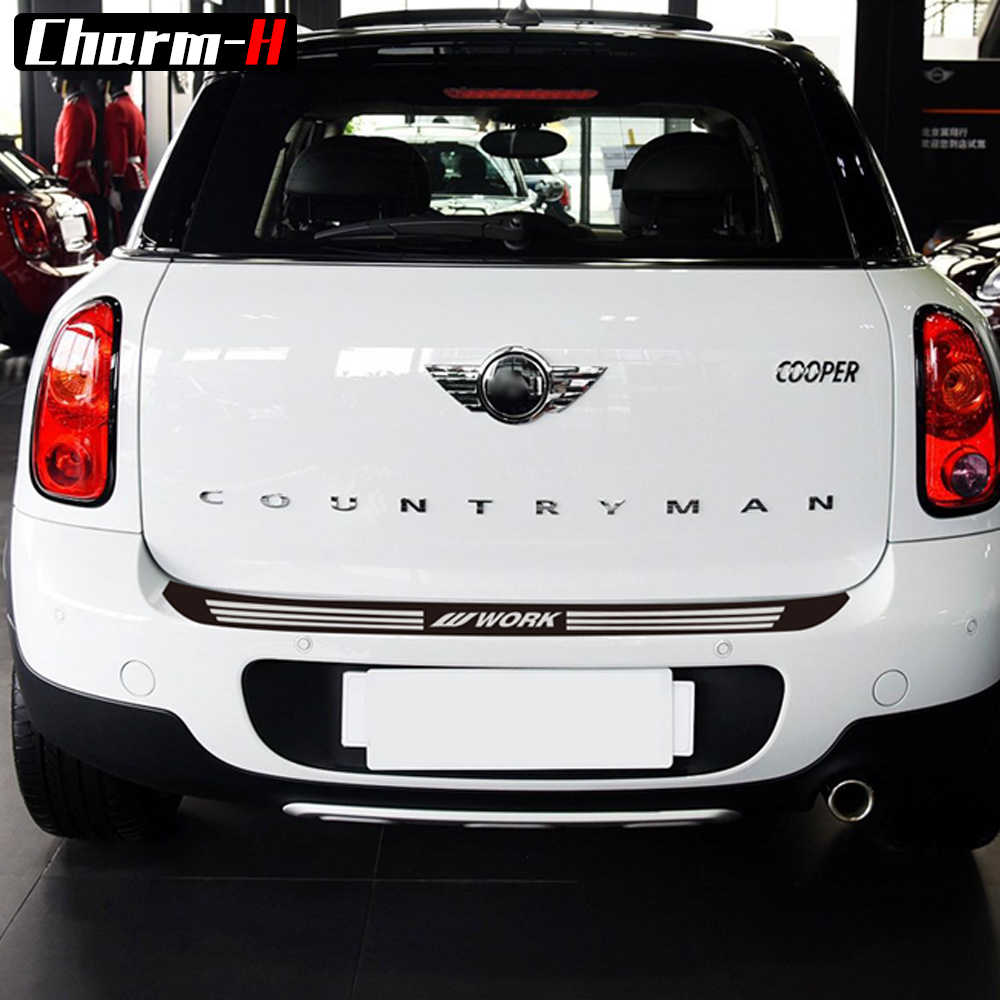 Car Styling rear bumper Trunk load edge Protector guard vinyl decal sticker for MINI Cooper countryman R60 2010-2016 Accessories