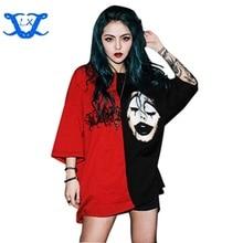 Brand Fashion New Summer T Shirt 17ss Black Red Clown Short Sleeve Tees Women Unisex Couple OS Loose T-shirt