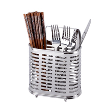 Durable Stainless steel hanging chopstick cages spoon holder fork rack reinforced kitchen supply shelves cutlery organizer