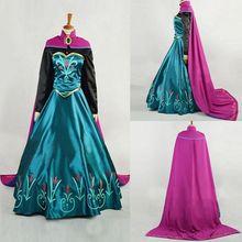 XL, Снежная королева, Анна, платье на Хэллоуин для взрослых, принцесса Анна, коронация, карнавальный костюм, вечерние женские маскарадные платья, изготовление на заказ, Z3
