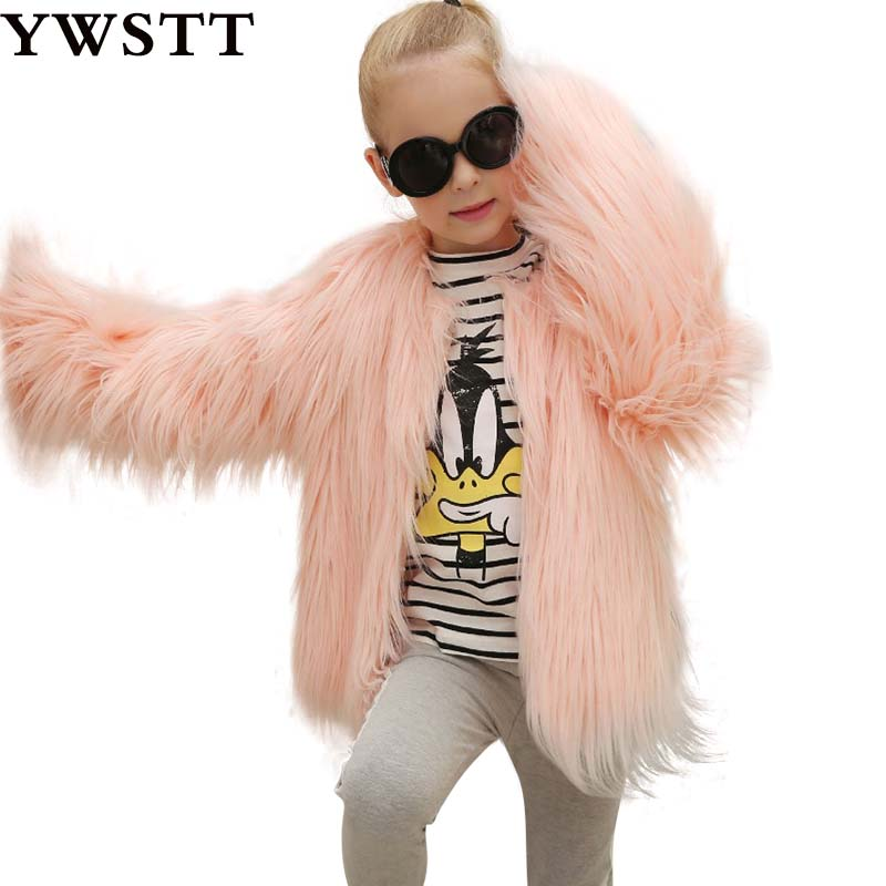 2018 new winter children Winter Faux Fur Coat girls imitation fur coat fox thick Warm baby plush clothes Girl flurry Clothes new arrival plush coat children faux fur coat girls explosion thickened small children warm coat girls winter coat 4 8y page 3