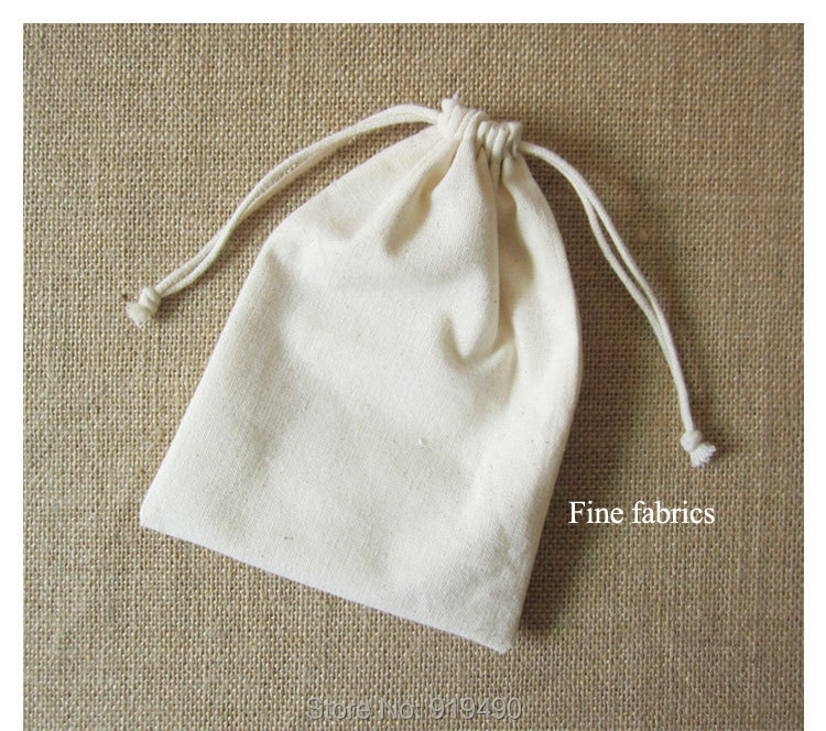 50f43dff26 Canvas Drawstring Bag Cotton Pouch Jewelry/Package/Hair Bundles/Gift/Wedding/Party  Bags Custom Logo Print Storage 10x13cm 100PCS-in Jewelry Packaging ...