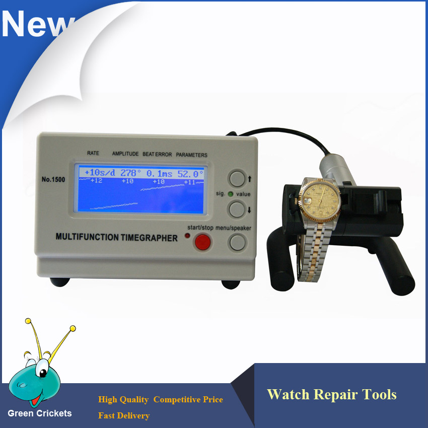 No.1500 Machine Watch Timing Test Tool,Large Size Display Watch Timing Timegrapher for watchmakers watch repair 110v automic test cyclotest watch tester watch test machine watch winder for watches
