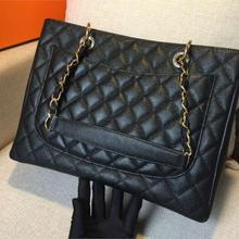 f7900fed1c02 Classic Black C Handbag bag Caviar Leather GST Bag Grand Shopping Tote Bag  Quilted Bag With Gold Hardware women handbags