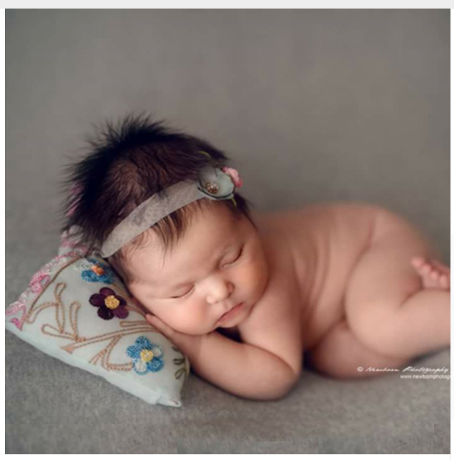 Baby photo props baby embroidered pillow pose positioning pillow newborn studio photo props accessories 1