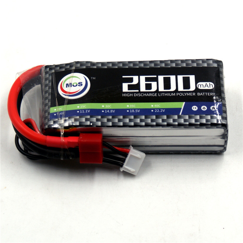 MOS 3S RC lipo battery 11.1v 2600mAh 30C For RC helicopter car boat quadcopter Li-Po batteria AKKU mos 5s rc lipo battery 18 5v 25c 16000mah for rc aircraft car drones boat helicopter quadcopter airplane 5s li polymer batteria