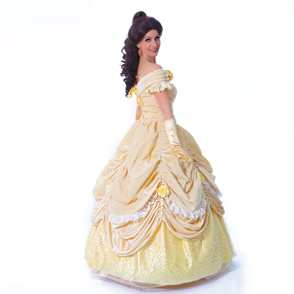 Beauty and the Beast Adult Costumes Fairytale Princess Belle Dress Carnival Costumes for Women Fancy Dress Plus Size Custom