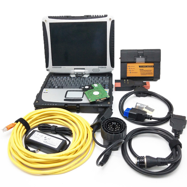 Top Quality ICOM A2 com CF19 Laptop Mais Novo V2019.07 A2 Software ICOM a + B + C Apoio Diagnóstico & Programação função