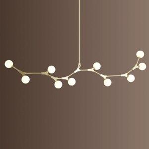 Image 2 - Lustre de chambre nordique, éclairage du salon, lumières suspendues, luminaires de salle de bains, luminaires de suspension à boule en verre