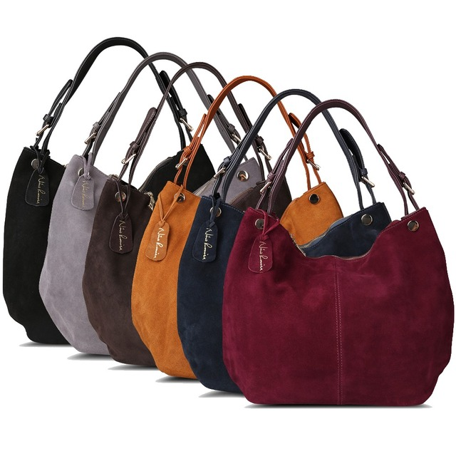 Nico Louise Suede Leather Shoulder Bags 5