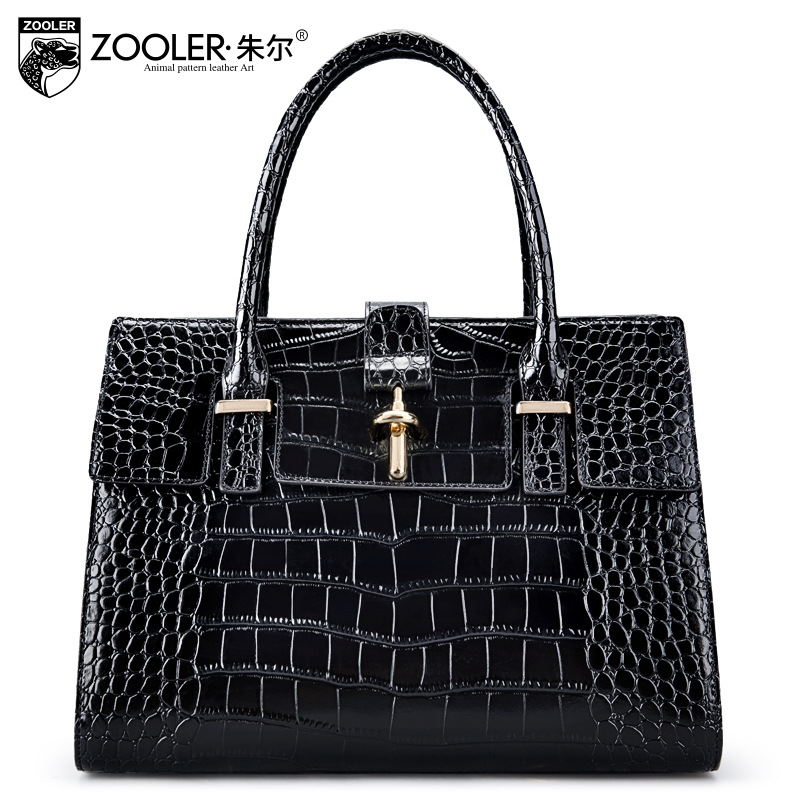ZOOLER Women Crocodile Pattern Genuine Leather Handbags 2018 New Spring Fashion Satchel Tote Bag Ladies Messenger Shoulder Bags