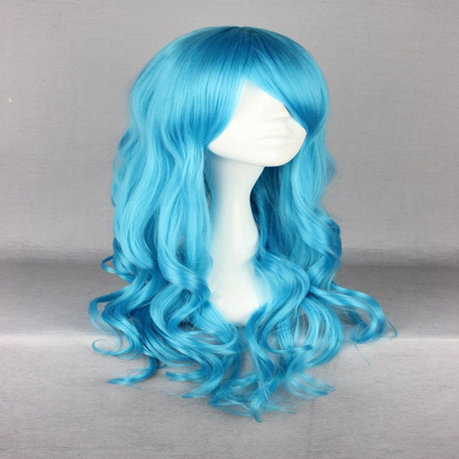 HAIRJOY Synthetic Hair Zipper 70cm Long Wavy Harajuku Lolita Cosplay Wig 18 Colors Available 111
