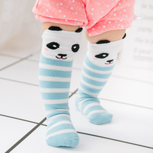 Sunnykucy Baby Socks Three-Dimensional Rabbit Panda In The Tube Cotton Striped ChildrenS Wholesale 1-3Y L312