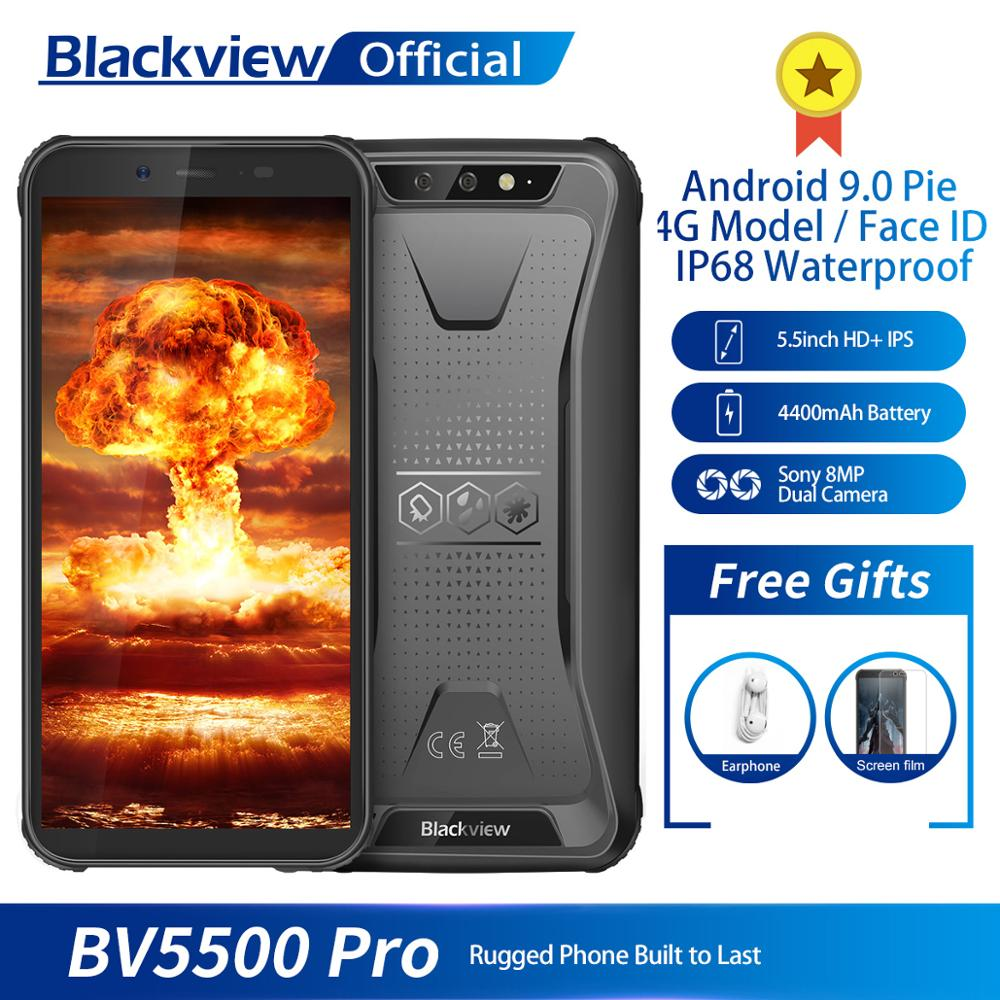 Blackview Newest Mobile Phone BV5500 Pro 4G Model IP68 Waterproof Smartphone 4400mAh NFC  5.5