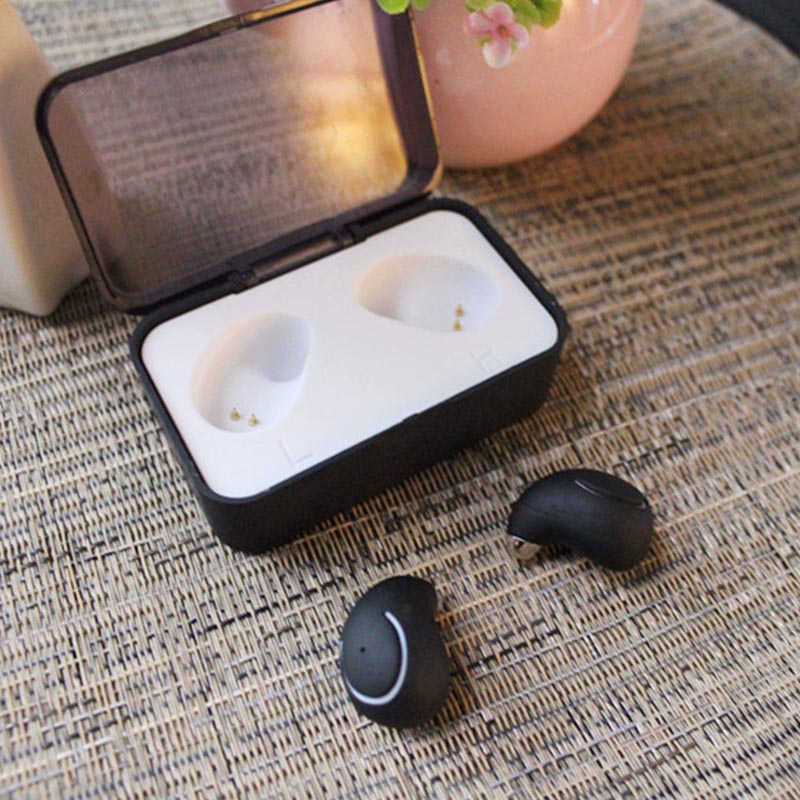 ФОТО New Bluetooth Earphones Mini Twins True Wireless Bluetooth Headphones CSR 4.1 Stereo Earbuds TWS Headset with Charging Socket
