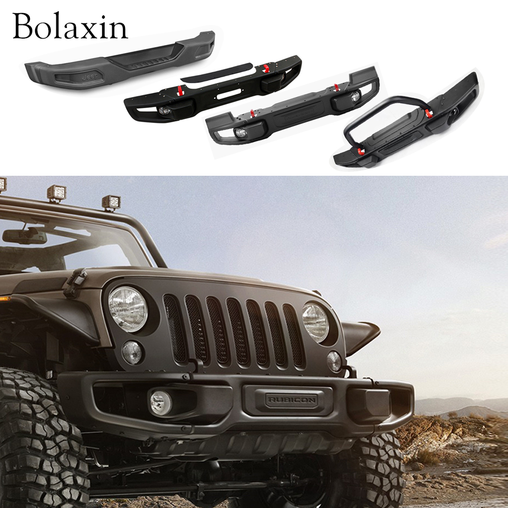 13 Antenna For Jeep Wrangler Jk 2pcs Magnetic United States Winch Rear 2008 New Design Bolaxin Car Protection Board Front Offroad Bumper Brush Guard With Log