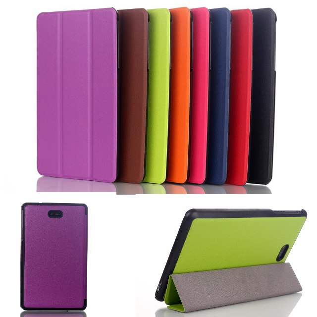 Fashion 3 Folded Crazy Horse pattern pu Leather Folio Stand holder Case cover for Dell Venue 8 Pro Windows with stylus pen