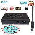 Новейший DVB-T2 + USB wifi ТВ-тюнер наземный приемник DVB-T2 цифровой приемник MPEG4 H.265 поддержка AC3 Dobly YOUTUBE с RJ45