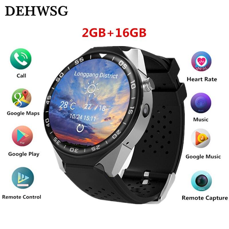 Montre intelligente KW88 PRO Pour Samsung gear s3 avec 2MP Caméra 2 gb RAM 16 gb ROM Carte SIM 3g WIFI GPS Smartwatch moniteur de fréquence cardiaque