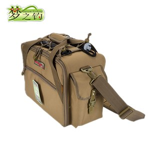 Image 4 - Dream Fishing Multifunctional Fishing Bag 47*29*21cm Large Capacity  Fishing Reel Bag 1200D Waterproof Nylon Tackle Bagpack