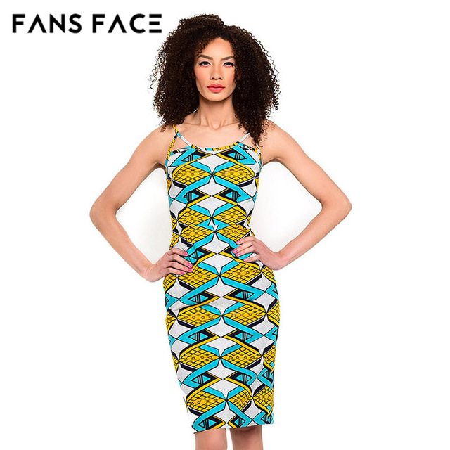 eae88f66241 FANS FACE Summer Dress Women African Dresses Beautiful Cheap Dresses  Clothes Sundresses elements printing Zomer Jurk